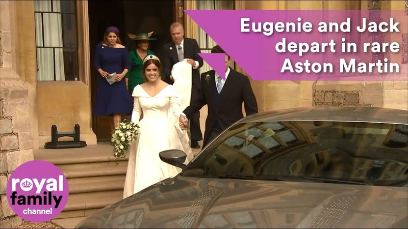 Princess Eugenie and Jack Brooksbank leave Windsor Castle in rare Aston Martin