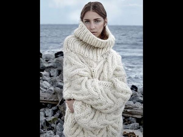 Женские Креативные Пуловеры Вязаные Спицами 2019 Women's Creative Pullovers Knitted Needles