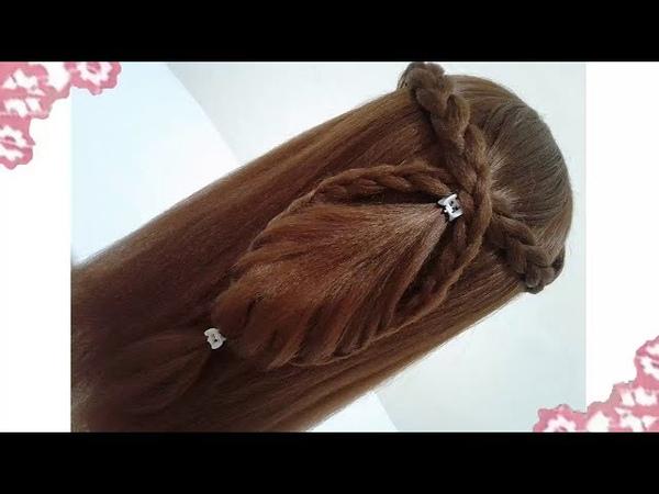 Peinados recogidos faciles para cabello largo bonitos y rapidos con trenzas para niña y fiestas74118