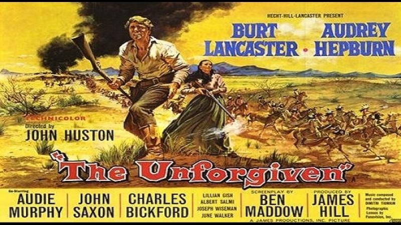 1960 John Huston The Unforgiven Audie Murphy Burt Lancaster Audrey Hepburn Lillian Gish John Saxon