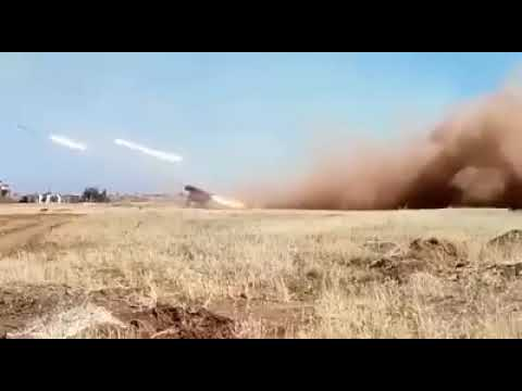 SYRIA:THE SYRIAN ARMY'S MLRS TARGETED AL-NUSRA SITES IN DARAA COUNTRYSIDE
