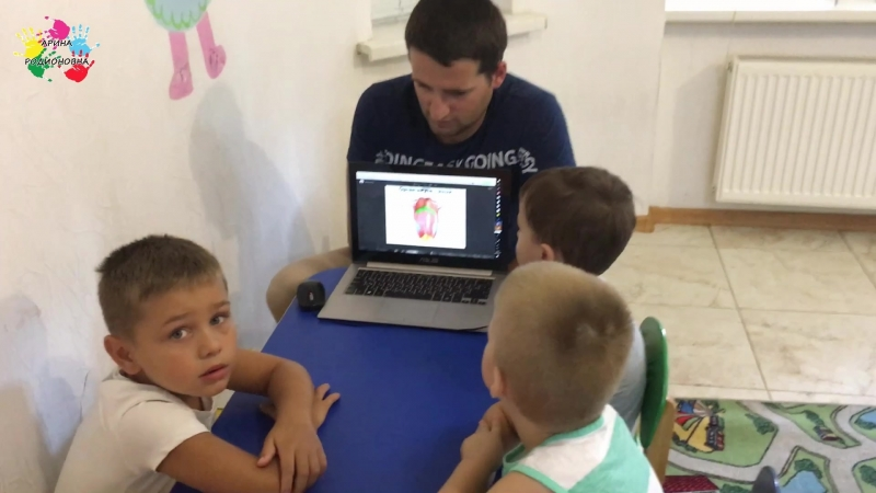 Занятие в старшей группе Вкусы Частный детский сад Ялта