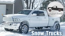 Badass Squat trucks on black ice and Snow