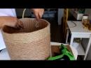 DIY Halat Sepet yapımı Rope Basket