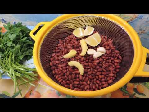 Хумус 🥣 из квашеной отварной фасоли с кунжутом (hummus bean).