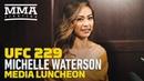 UFC 229: Michelle Waterson Media Lunch Scrum - MMA Fighting