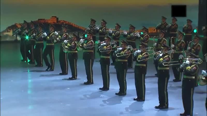 Военный оркестр и женский почётный караул НОАК – Моя Родина / 中國人民解放軍軍樂團與儀仗隊 (女兵) - 我的祖国