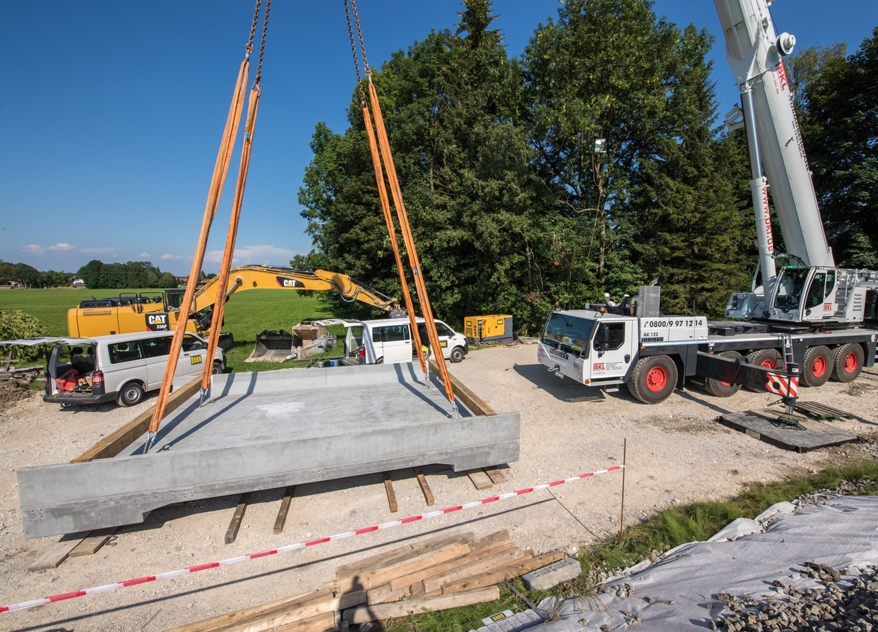 Железнодорожный мост из высокопрочного фибробетона возведен в Германии