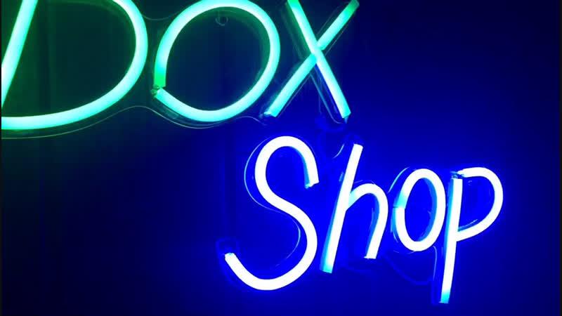 Неоновая вывеска для Fanbox Shop