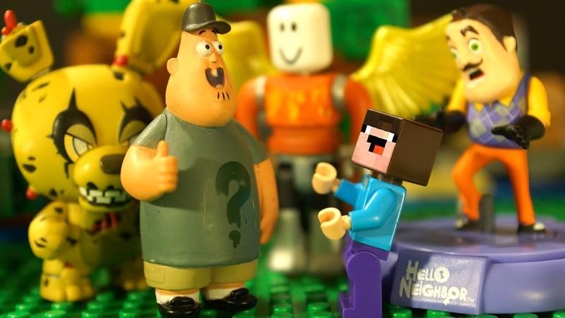 Выживание Лего НУБика и Борьки в Майнкрафте - Привет Сосед, Гравити Фолз, Роблокс - Видео для Детей