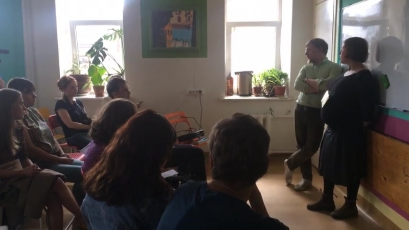 Андрей Чапаев и Анна Малинина рассказывают о гуманитарных проектах Ночлежки