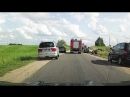 Видео с места аварии, в которой погиб один из военнослужащих центра боевой подготовки имени Адольфаса Раманаускаса (Ванагаса)