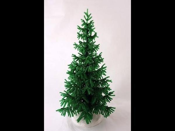 новогодняя елка из бисера. beaded christmas tree