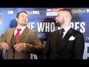 'I WILL NEVER QUIT ' OLEKSANDR USYK TONY BELLEW TRADE WORDS IN HEAD TO HEAD @ PRESS CONFERENCE