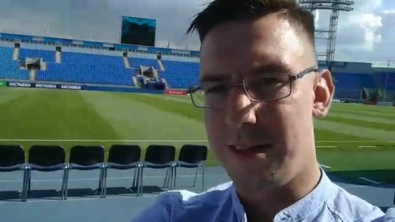 Стадион Петровский перед матчем Зенит — Динамо Минск