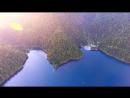 Абхазия Озеро Рица Аэросъемка 2018 Абхазия Голубое озеро Гегский водопад СПА отель КАРАКАС