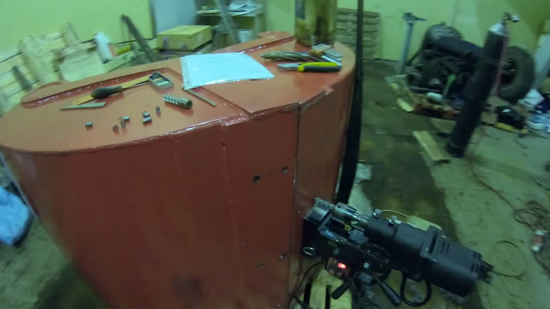 Грейфер ковшовый объём 500 л для уборки снега, делаем сверловку для монтажа зубьев