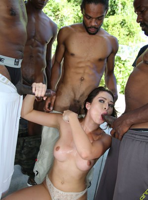 Hot black babe banged doggystyle segment