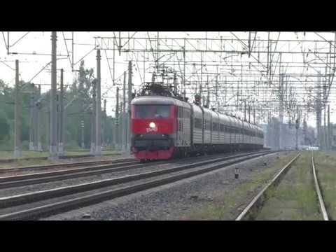 Электровоз ЧС200-006 с поездом №112 Воронеж - Санкт-Петербург