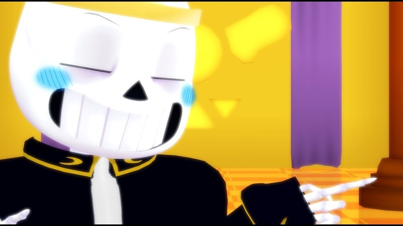 MMD Undertale AU Lovely Day meme Nightmare Sans