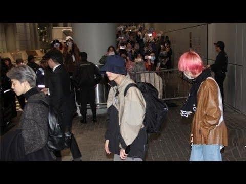 BTS Arrived Hong Kong Airport for 2018 MAMA in HONG KONG