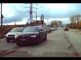 Архангельск, Ауди по встречке.