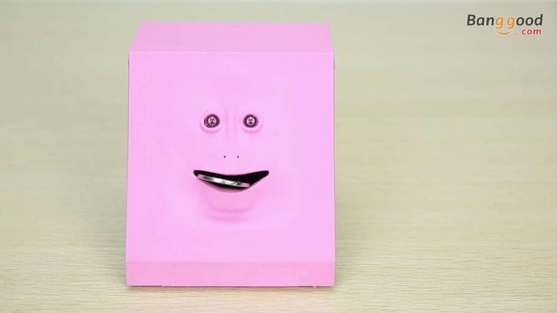 Face Bank Money Saving Box Sensor Coin Money Eating Box Monster Facebank Kids Toy Gift