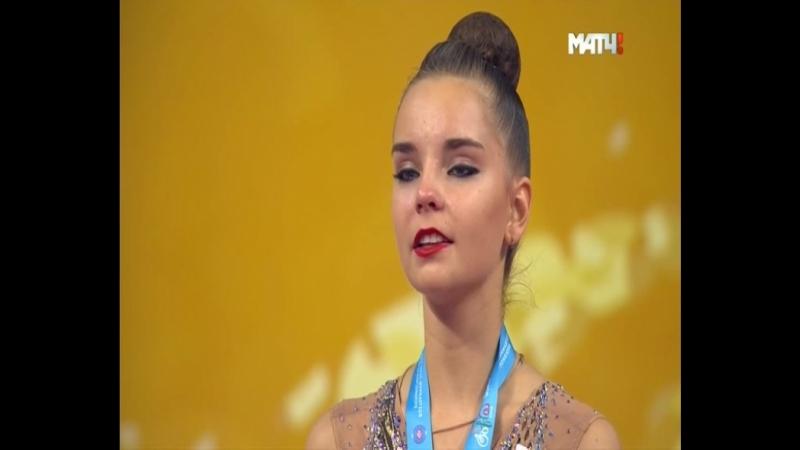 Лучшая в мире гимнастка Дина Аверина 2018 поет гимн России.