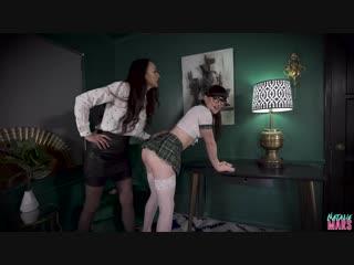 Natalie Mars & Stella Liberty - Slutty Schoolgirl Learns a Lesson [Shemale, Femdom, Domination, Fisting, Strapon, 1080p]