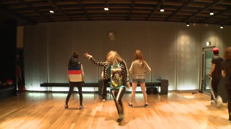 2NE1 I AM THE BEST Choreography Practice (Uncut Ver.)