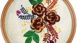 Hand Embroidery Design 3D Flower Brazilian Embroidery