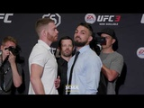 UFC 226 Mike Perry vs. Paul Felder Media Day Staredown - MMA Fighting