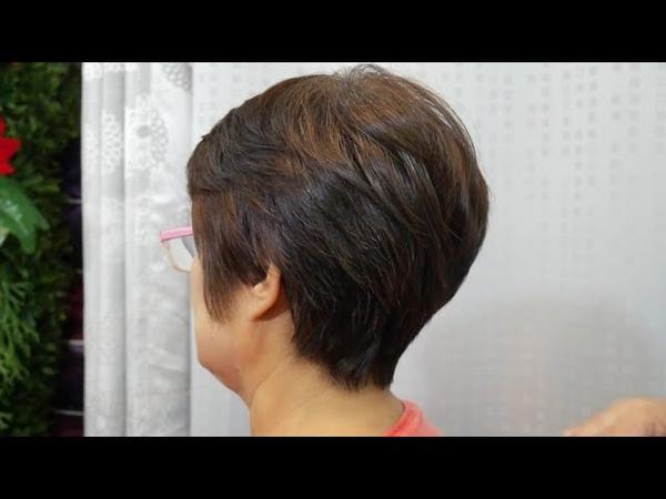 Short haircut style lady 2 ซอยผมสั้น