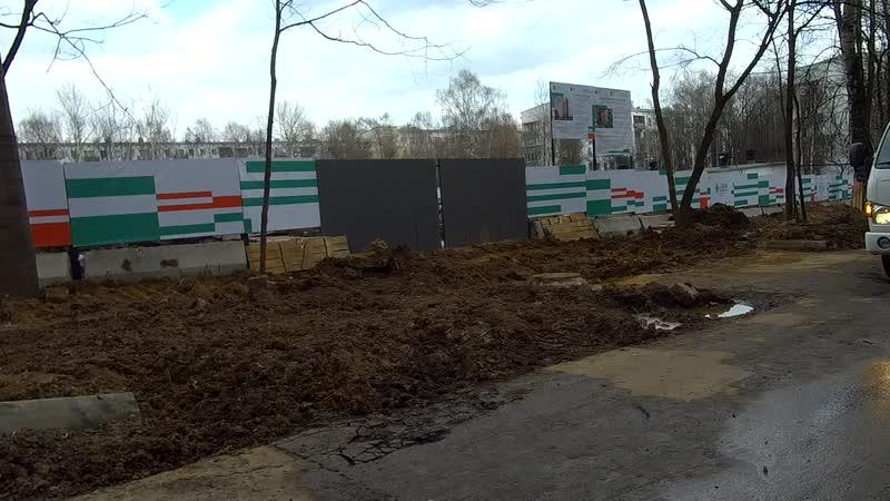 Стартовые площадки реновации в Зюзино на ул. Керченской и Каховке 07.04.2019