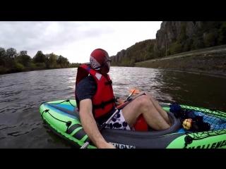Навстречу ветру и течению _ Kayak Intex Challenger K1