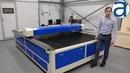 Демонстрация лазерного станка Rabbit Flat Bed 2030
