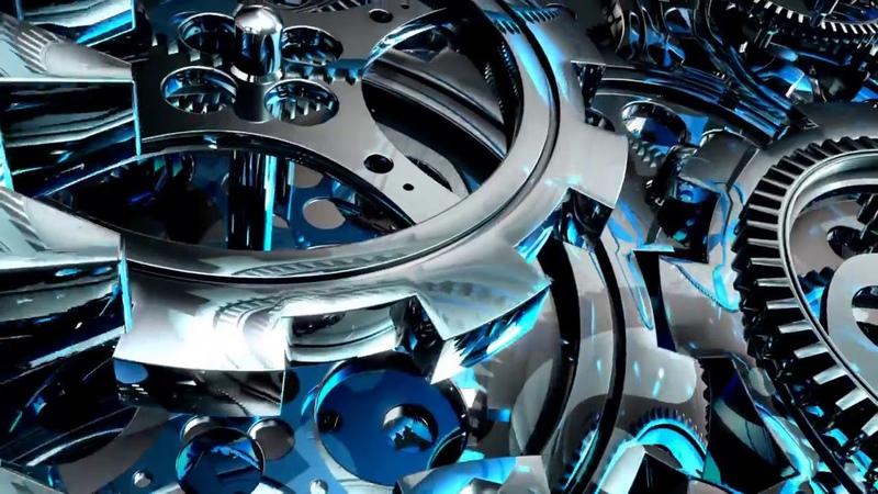 HD футаж вращающиеся шестеренки HD footage rotating gears