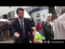 Misha being all cute pieing kelly the wardrobe lady and spn tapeball.mp4