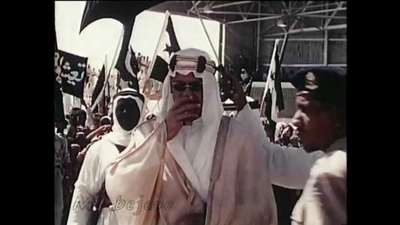 الملك سعود يستقبل جمال عبدالناصر وشكري ال16