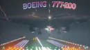 Boeing 777 Night Landings with Fog Condensation