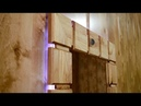 Upcycling an old wardrobe door into lighted wall mirror - YouTube