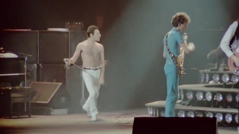 Freddie Mercury and his microphone - Show Must Go On