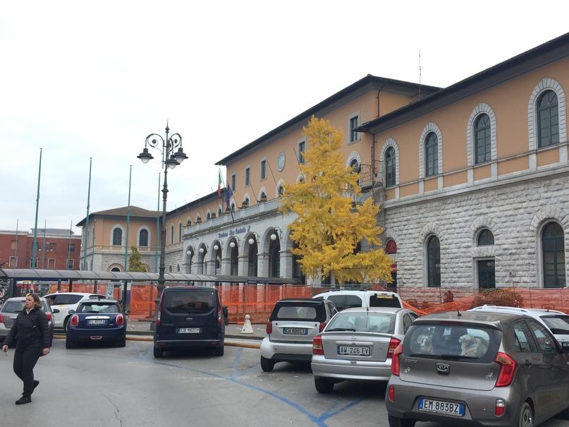 Отчет о путешествии в Италию Пиза и Флоренция. Вокзал Pisa Centrale
