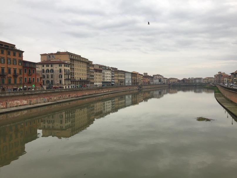 Отчет о путешествии в Италию Пиза и Флоренция. Пиза стоит на реке Арно