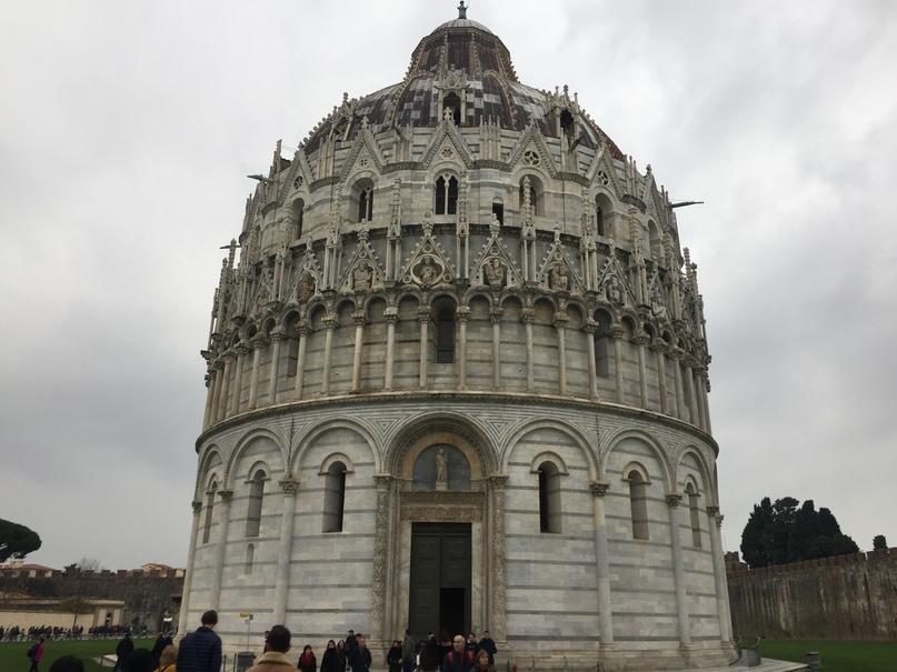 Отчет о путешествии в Италию Пиза и Флоренция. Баптистерий прекрасен снаружи