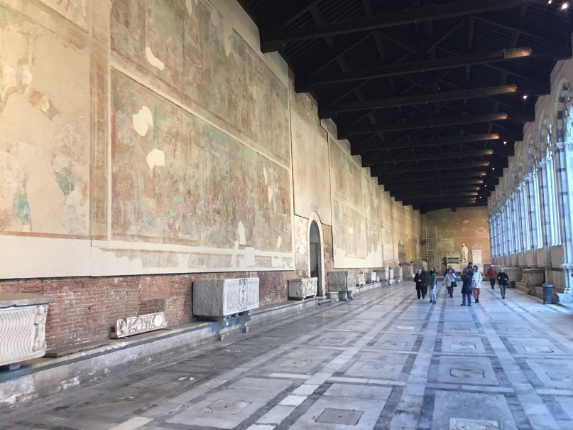 Отчет о путешествии в Италию Пиза и Флоренция. Camposanto Monumentale