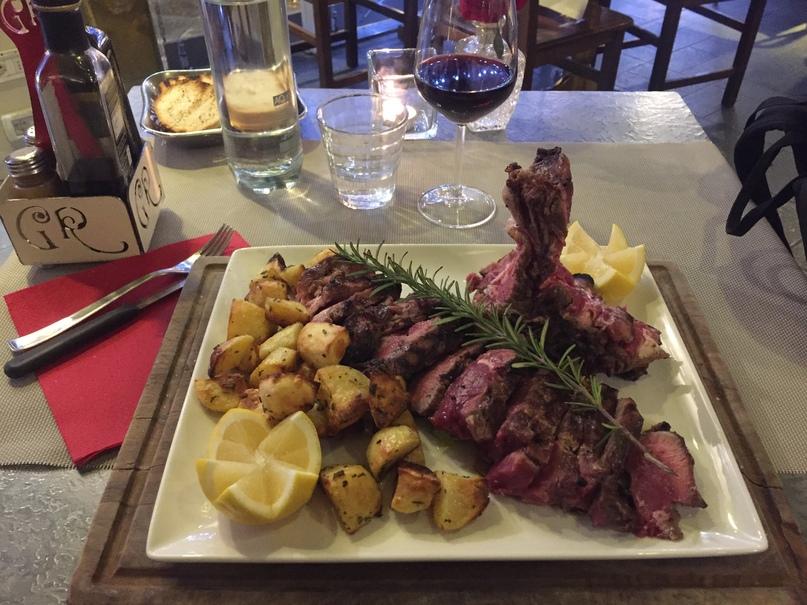 Отчет о путешествии в Италию Пиза и Флоренция. Bistecca (флорентийский стей) — традиционное Тосканское блюдо