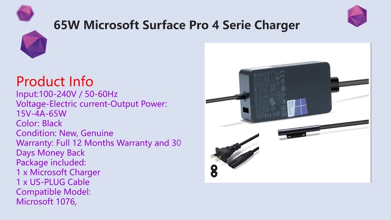 Surface pro 4 charger