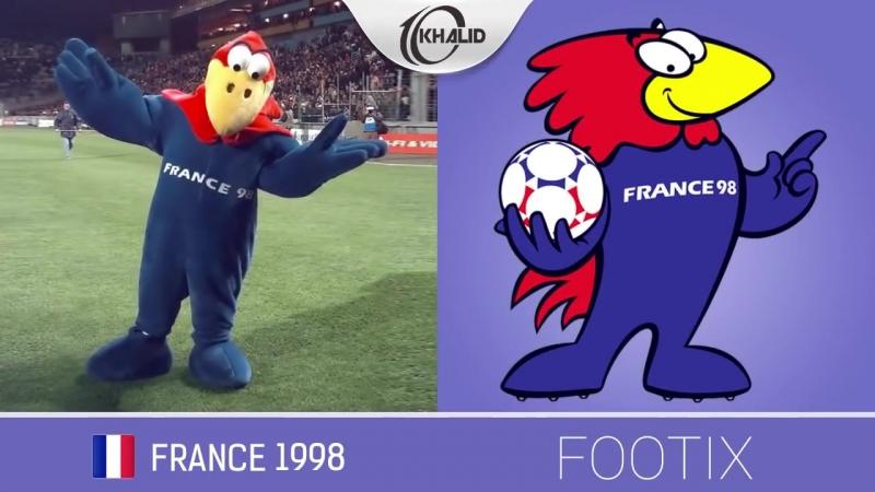 The Evolution of FIFA World Cup Mascot II 1966 - 2018