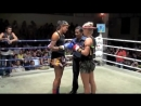 Aurore KOS Jade (Australia) in the first round @ Patong Boxing stadium